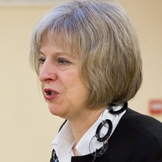 Head shot of Theresa May