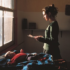 Woman reading a possession order
