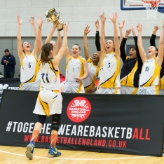 Anglia Ruskin basketball players celebrate play-off success