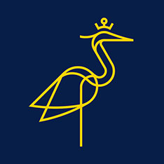 Stylised heron