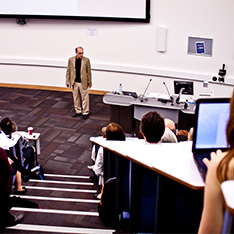 Professor Robert Duke giving keynote at annual learning and teaching conference in 2012