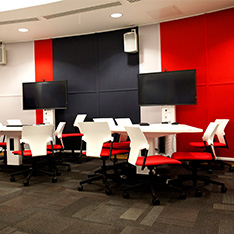 Active learning room at Anglia Ruskin University