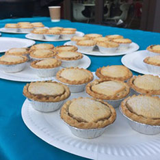 Mince pies on a table
