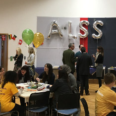 Students and staff at the ALSS Buddy tea party 2017