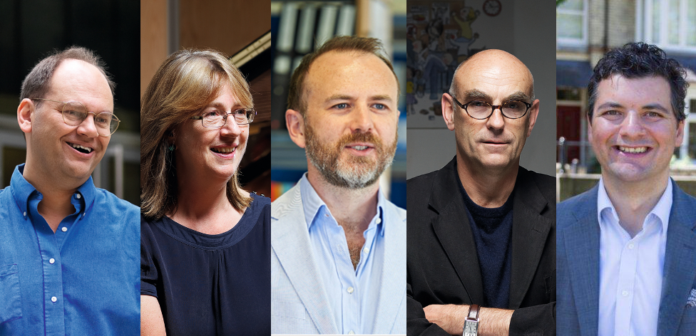 Rohan McWilliam, Helen Odell Miller, Sean Campbell, Martin Salisbury and Aldo Zammit Borda