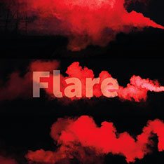"Red background with the word ""Flare"" overlayed."