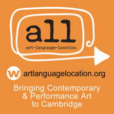 "Logo of Art, Language, Location with text ""Bringing Contemporary & Performing Art to Cambridge"" and url artlanguagelocation.org"
