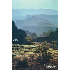 Pan Am USA poster, Ivan Chermayeff