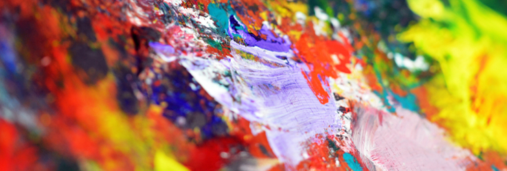 Colourful paint strokes