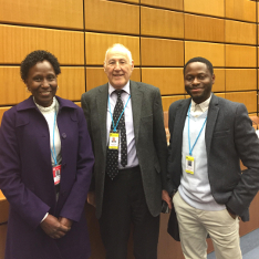 Iyare Otabor-Olubor (far right) with Sir Professor Roy Goode QC (Oxford University) and Mrs Bernice Gachegu (Registrar-General, Government of Kenya) at the Fourth International Colloquium on Secured Transactions Law in Vienna.