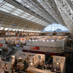 Panaroma of the New Designers Show 2016 inside the Business Design Centre, London, N1