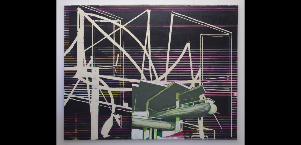 'Modern House 4', Oil on canvas, 160 x 200cm, 2014