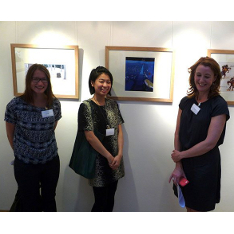 Our prize-winning students (left to right, Silje Nilsen, Shu-Ti Liaoa and Sarah Finan)