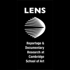 Lens Reportage and Documentary Research at Cambridge School of Art logo