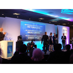 London Book Fair International Excellence Awards ceremony at London Olympia