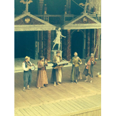 'The Comedy of Errors' on stage at the Globe (Jon Banks: centre)