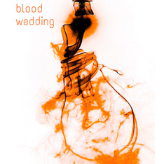Blood Wedding logo - an image of a light bulb, made out of smoke