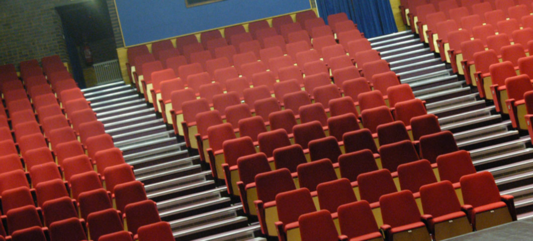 Audience seats in Mumford Theatre