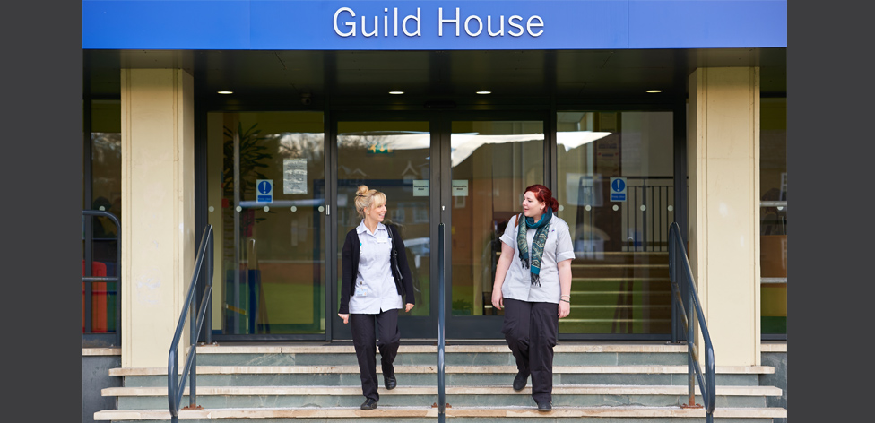 Guild House main entrance