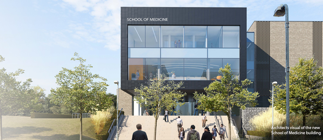 Architects visual of the new School of Medicine building