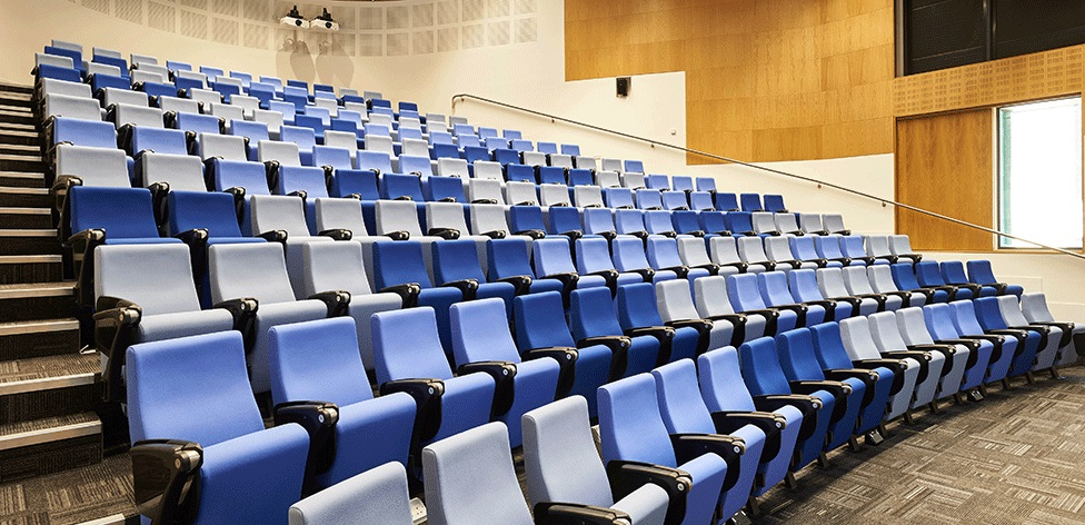 Lecture theatre in the Young Street Building, Cambridge