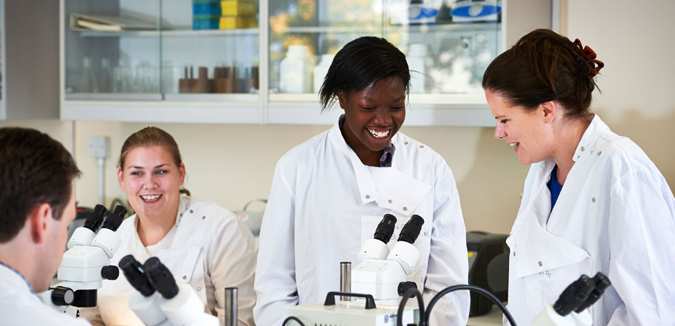 Students in one of our biomedical science labs
