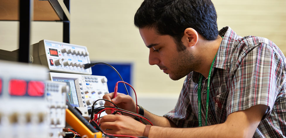 Working in our electronics lab
