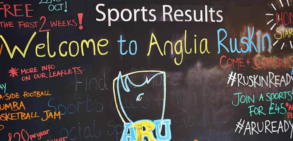 Sports fixtures and results board in Cambridge