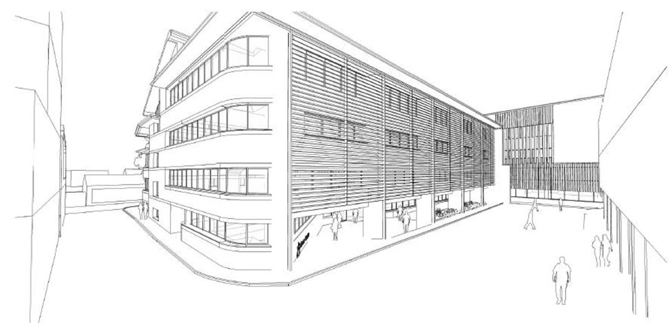 3D view of Broad Street - sketch courtesy of Richard Murphy Architects
