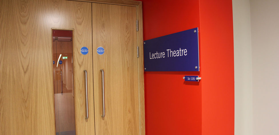 Entrance to the Science Centre's 300-seat lecture theatre