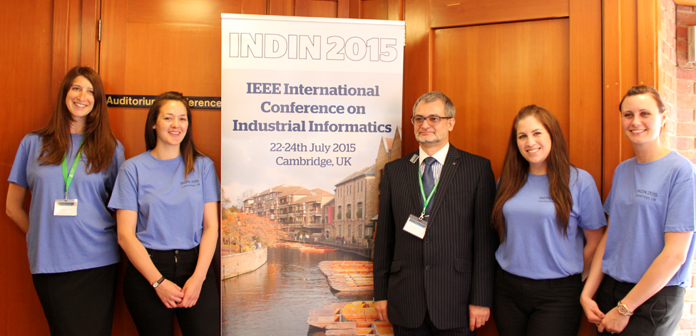 Anglia Ruskin's INDIN project team with Prof Marian Cirstea
