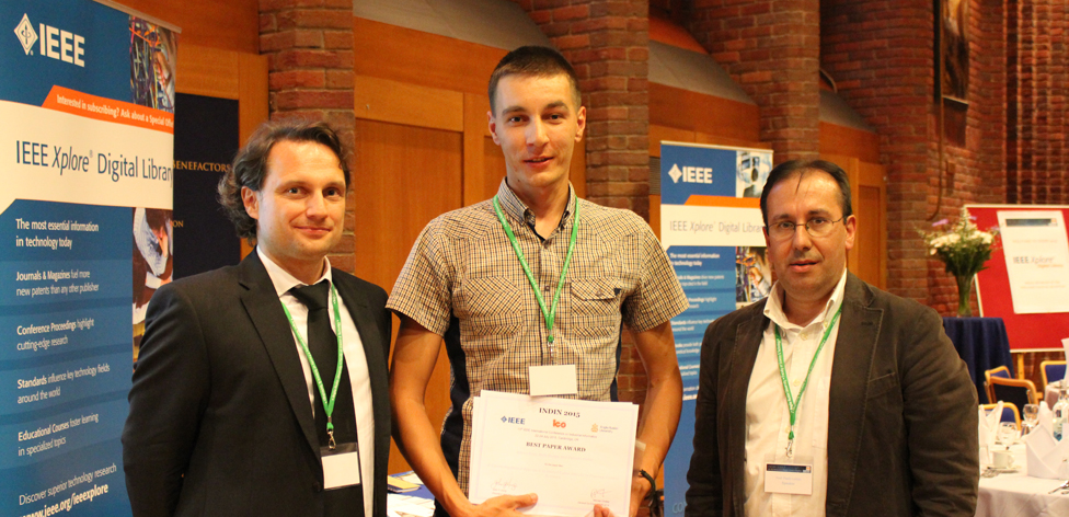 Best paper awarded to Istvan Kiss, Bela Genge and Piroska Haller