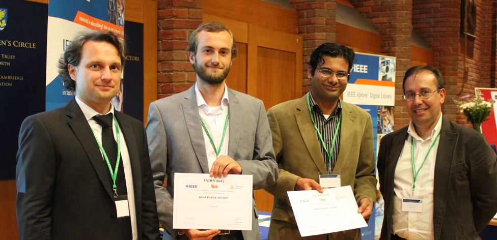 Best paper awarded to Kevin Warmerdam and Ashish Pandharipande