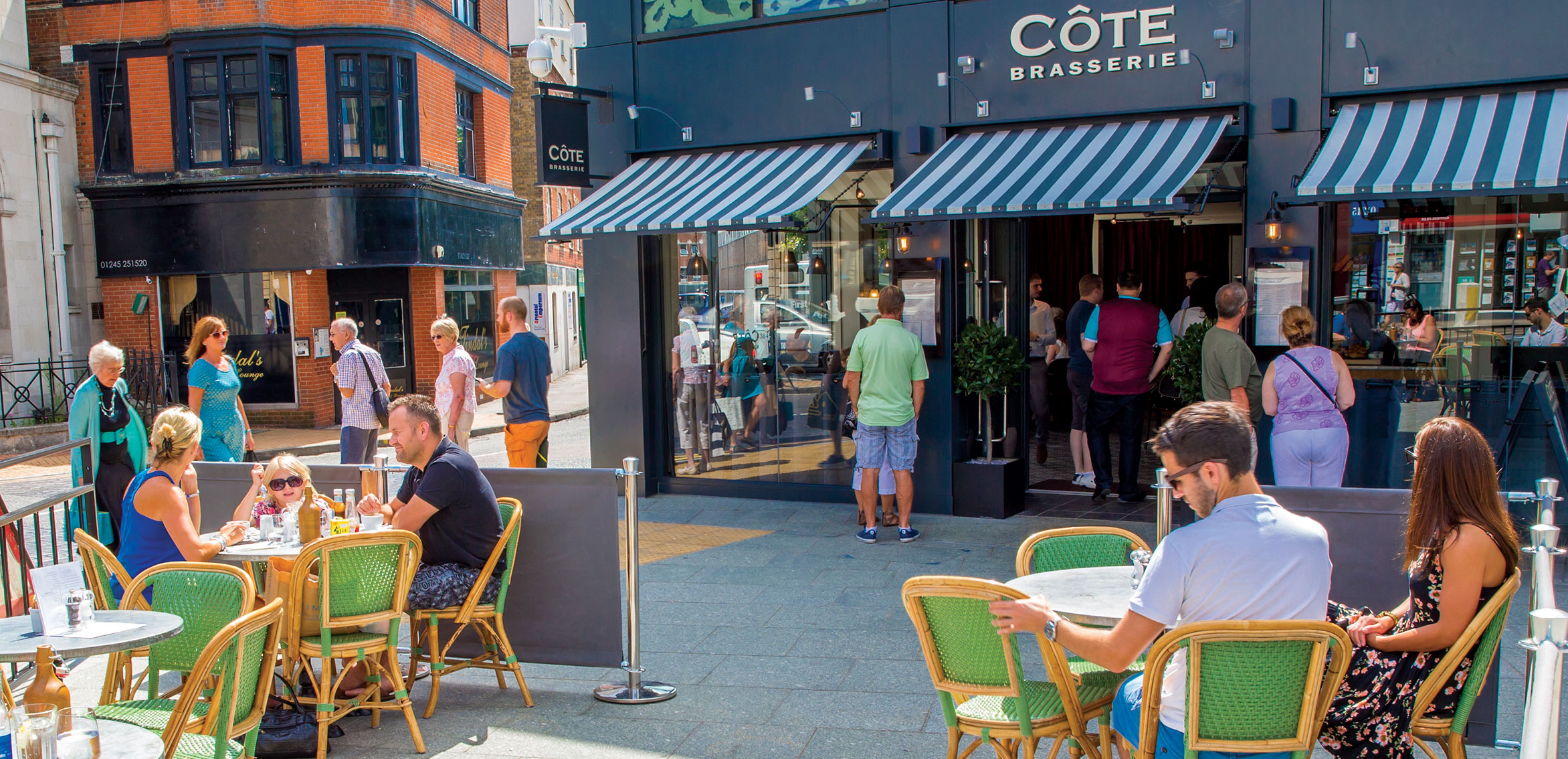 Exchange Square is a new hub for al fresco dining