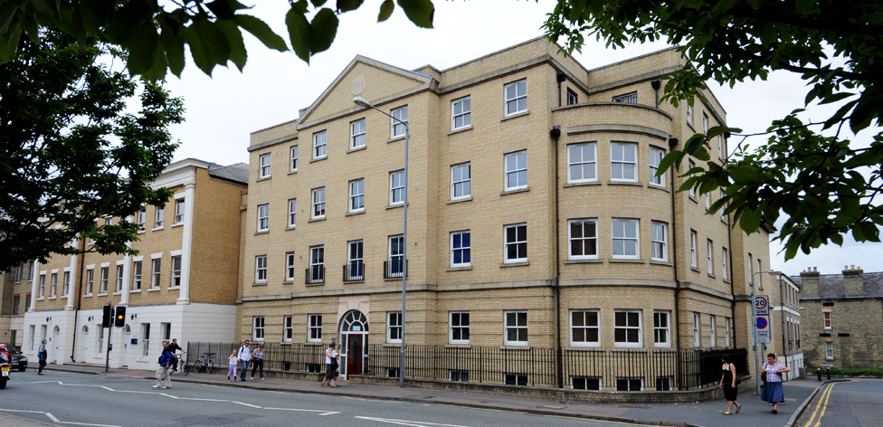The flats in Anastasia House are right across the road from our Cambridge campus