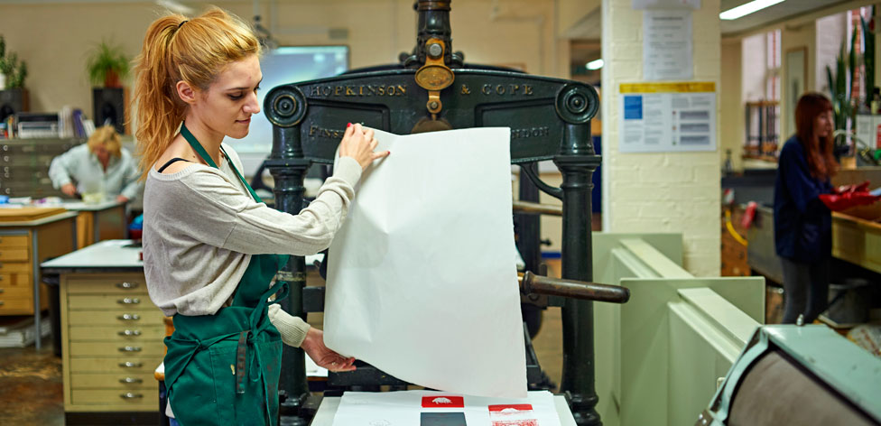 Fully-equipped printmaking studio in Cambridge School of Art