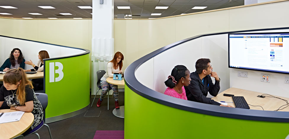 Study pods are a feature of our campus libraries