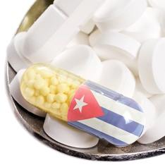 Pill featuring the Cuban flag