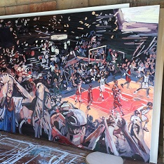 Emma Copley's New York Knicks painting