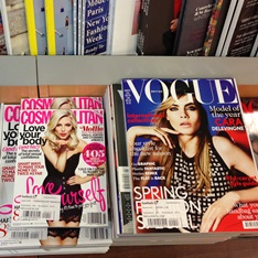 Front covers of fashion magazines
