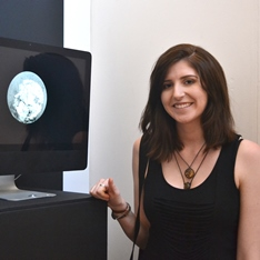 Imogen Dungate and her winning video installation, Gravity
