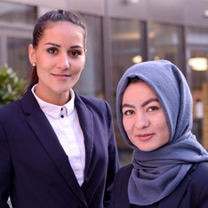 Meriam Altaf, left, and Hameeda Hussani