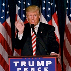 Donald Trump gives victory speech