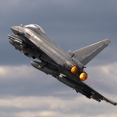 Photo of a Eurofighter Typhoon jet
