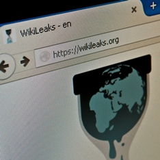 Screenshot of the Wikileaks website
