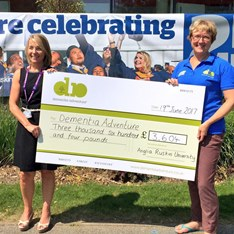 Sarah Janes, ‎Deputy Director of Student Services at Anglia Ruskin University (pictured left), and Kath Vale, fundraiser at Dementia Adventure