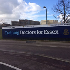 School of Medicine hoardings: Training Doctors for Essex